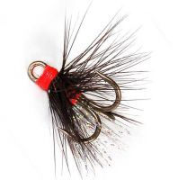 Муха на тройнике Strike TR023 Treble Feather Mini Black