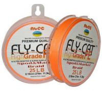 Шнур Ntec FlyCat Orange 137м 0.08мм 1.8кг