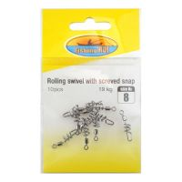 Вертлюжок Fishing ROI YM-1041 Rolling swivel with screved snap